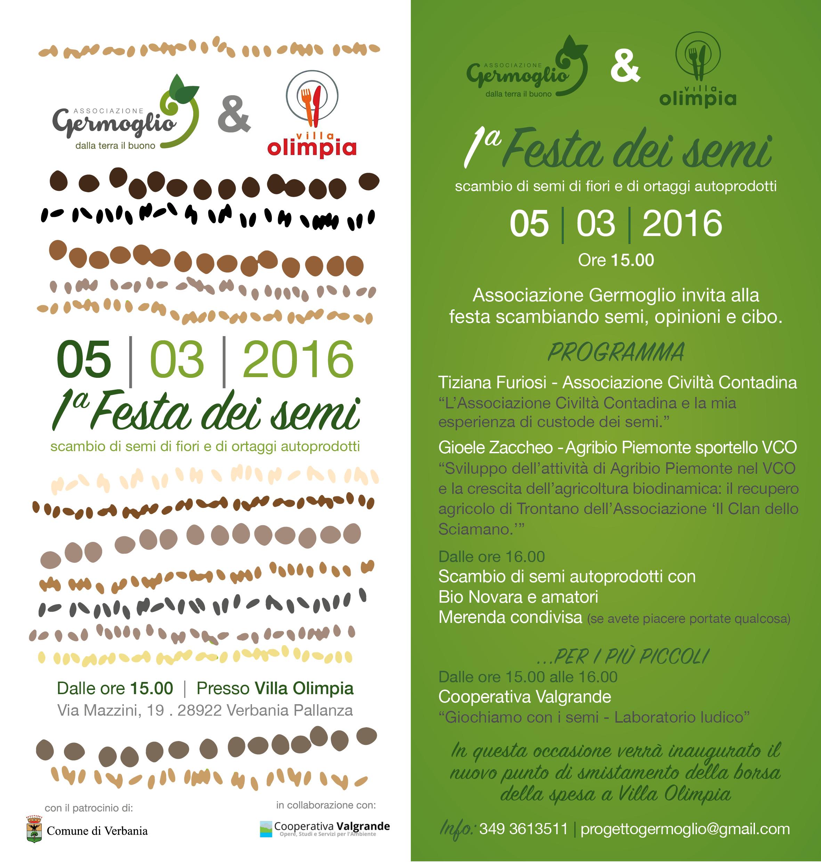 1° Festa dei semi